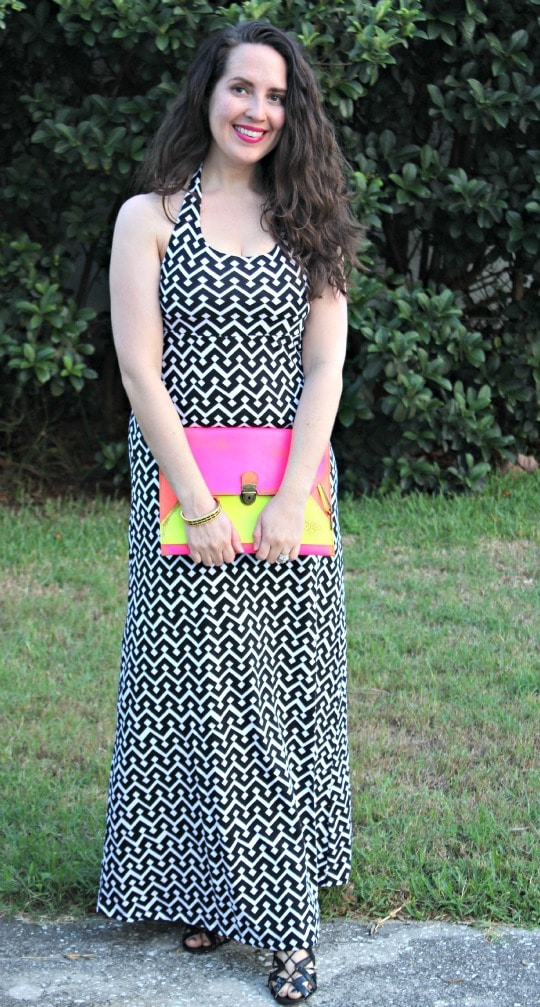 summer 2013 fashion trends, black and white, neon, graphic prints, blogger style challenge