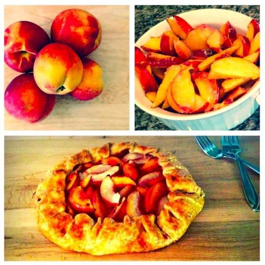 easy desserts, summer desserts, peach pie, peach galette