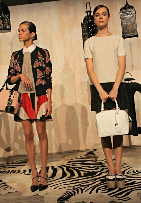 alice + olivia spring 2014 collection, preppy chic, sparkle, new york fashion week