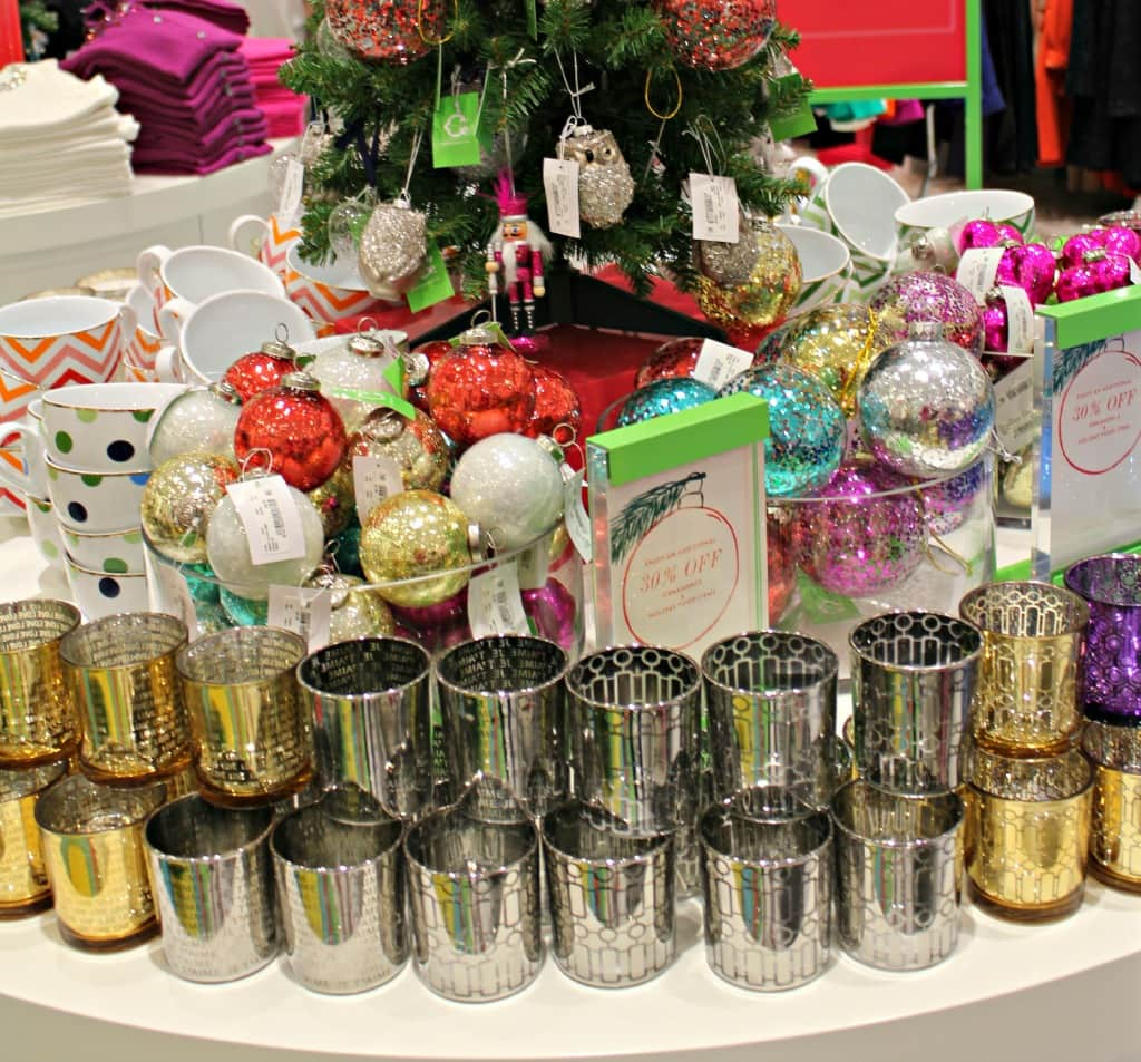 holiday ornaments, votive candles