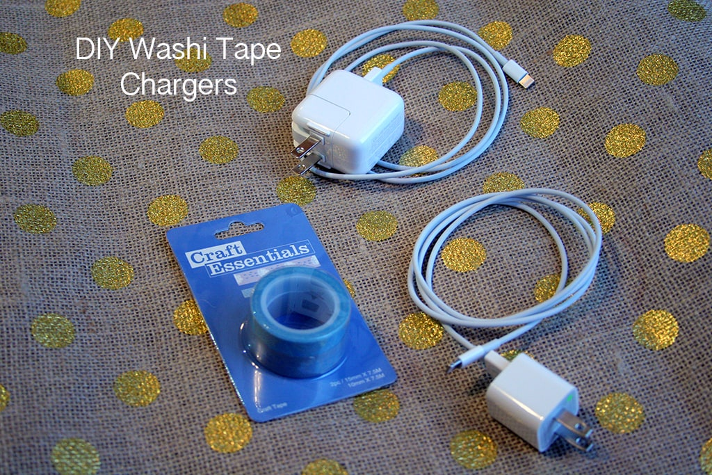 DIY Washi Tape Phone Chargers