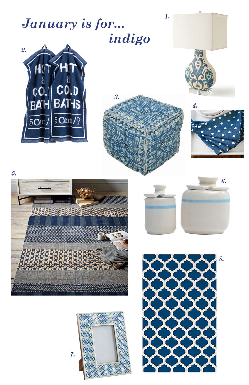 Decorating with Indigo