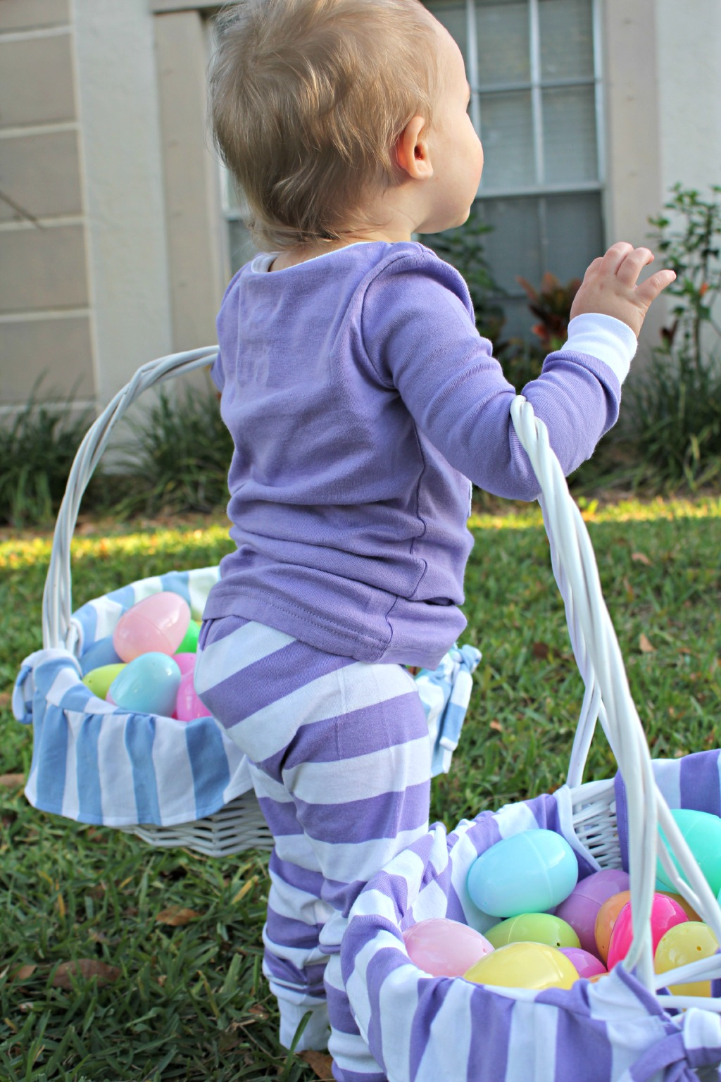 easter egg hunt, chasing fireflies personalized easter baskets