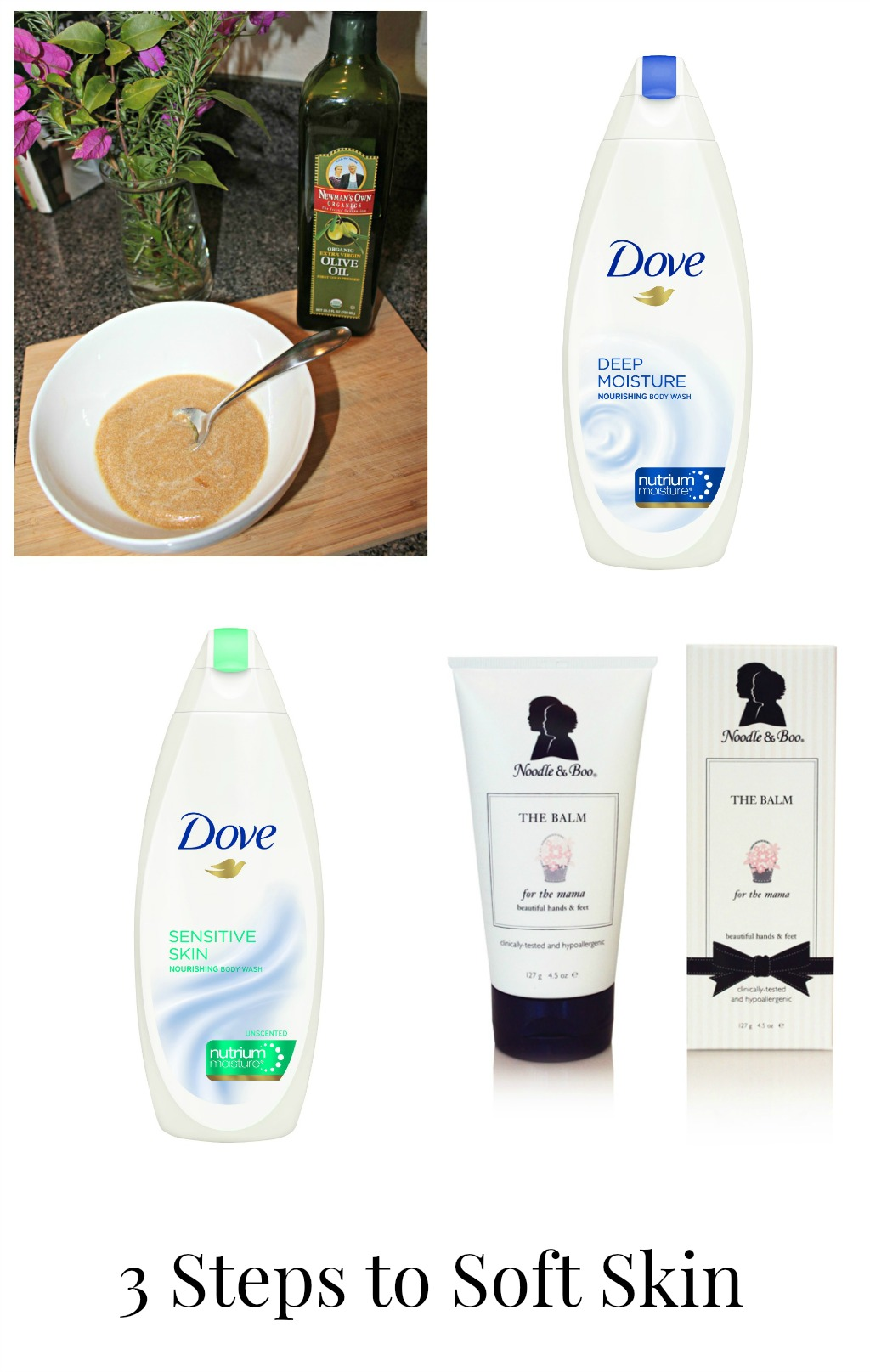 how to get soft skin, make your own scrub, dove, giveaway
