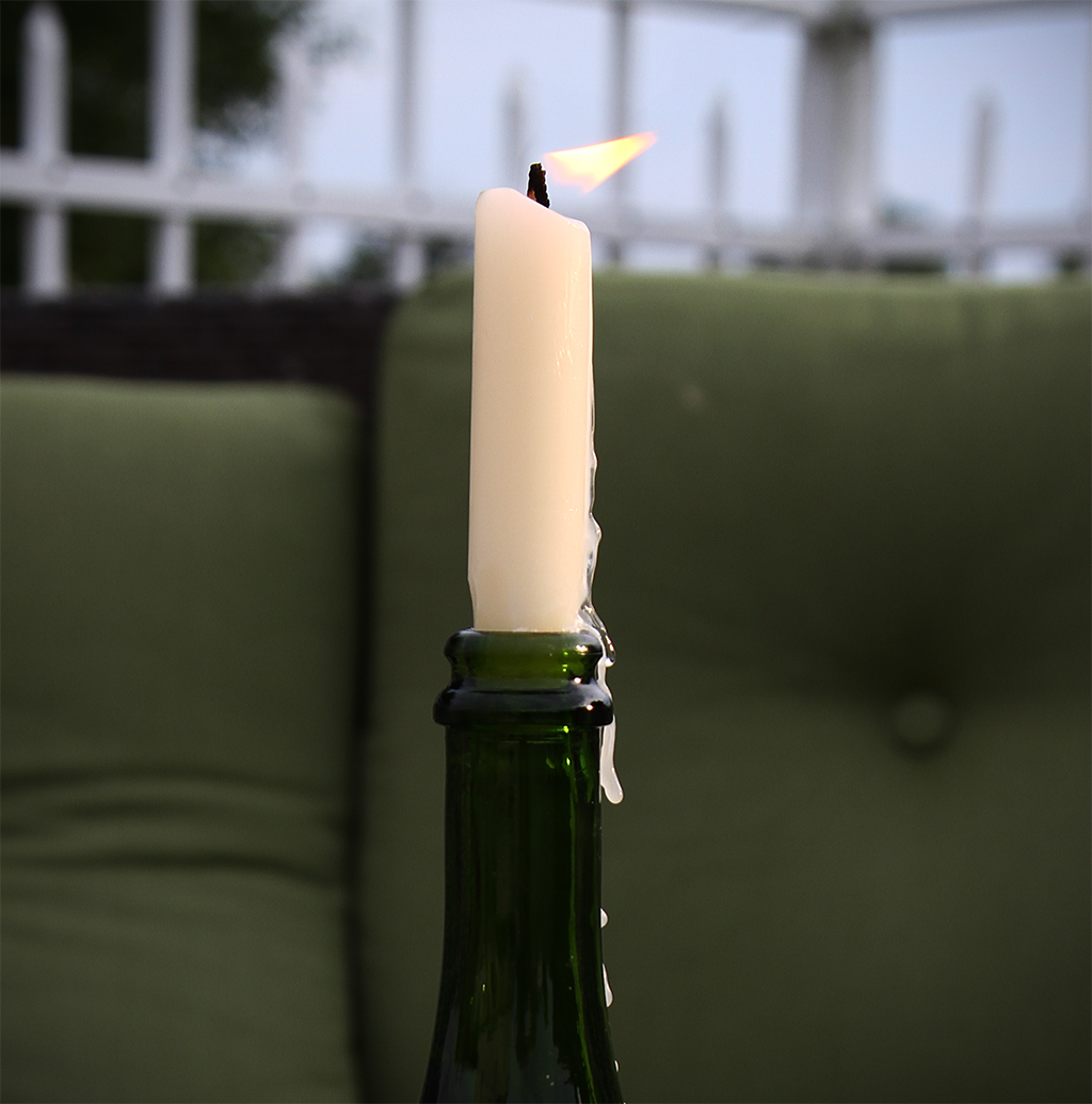 Recycled Wine Bottle Lighting