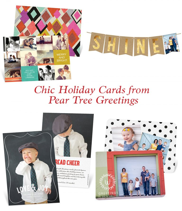 Chic Holiday Cards From Pear Tree Greetings