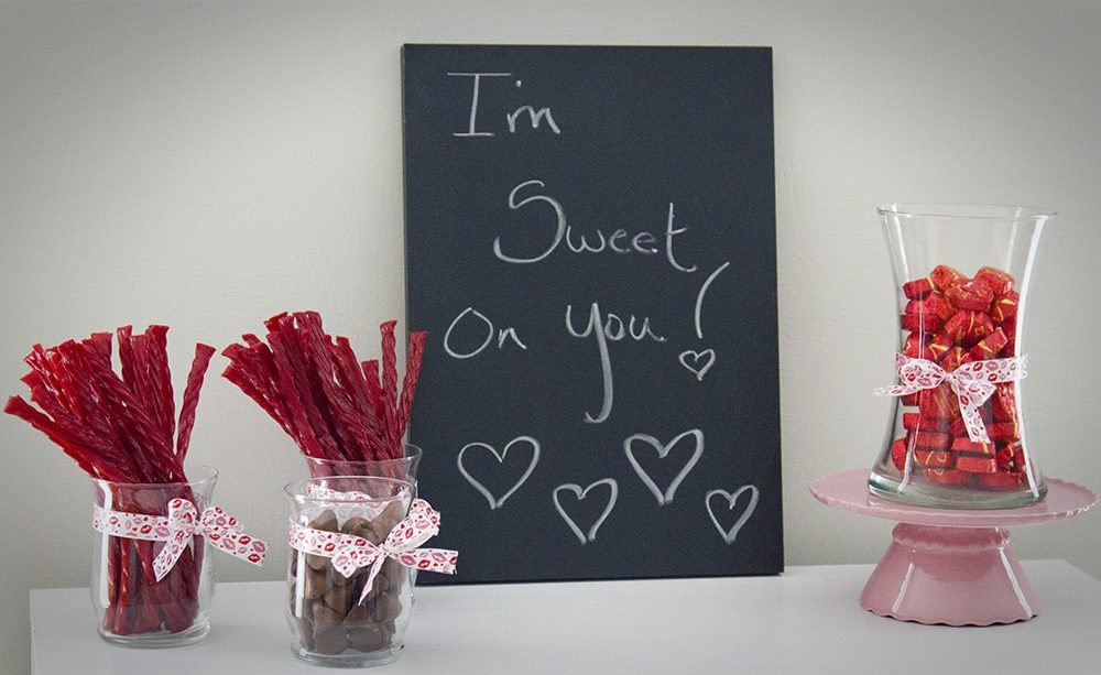 Valentine's Day Candy Display