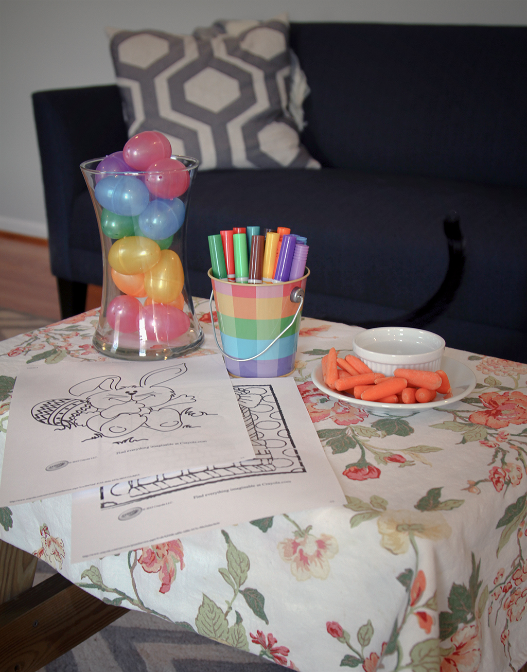 Kids Easter Table Setting