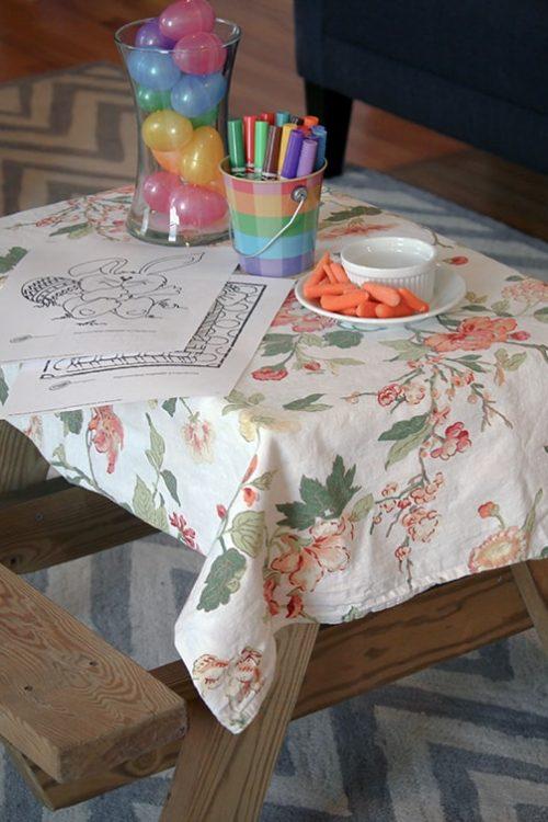 Kids Indoor Easter Table