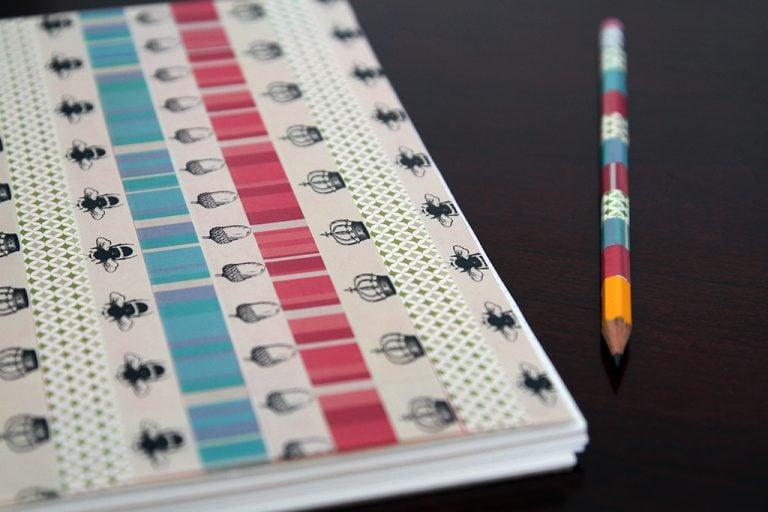 DIY Washi Tape Notebook
