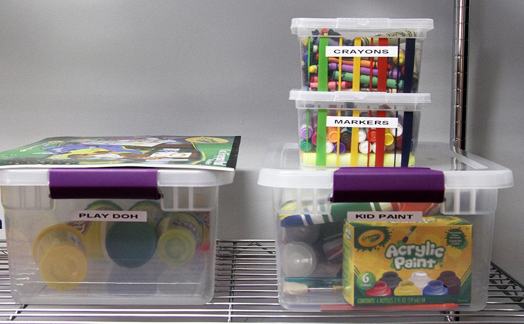 Art Supplies Organized