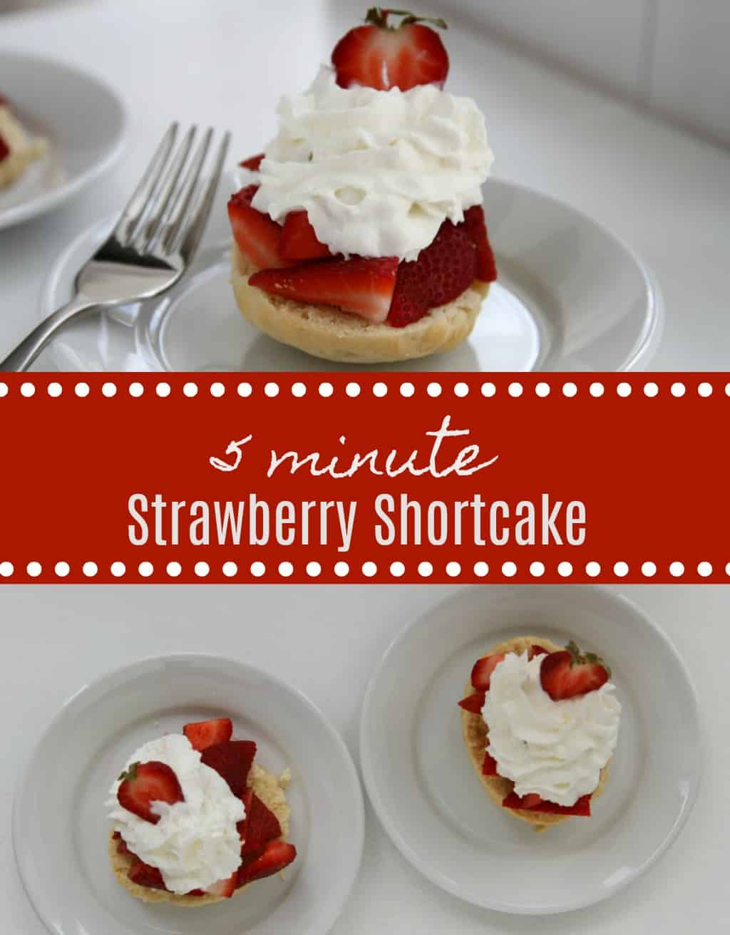 how to make a 5 minute strawberry shortcake dessert
