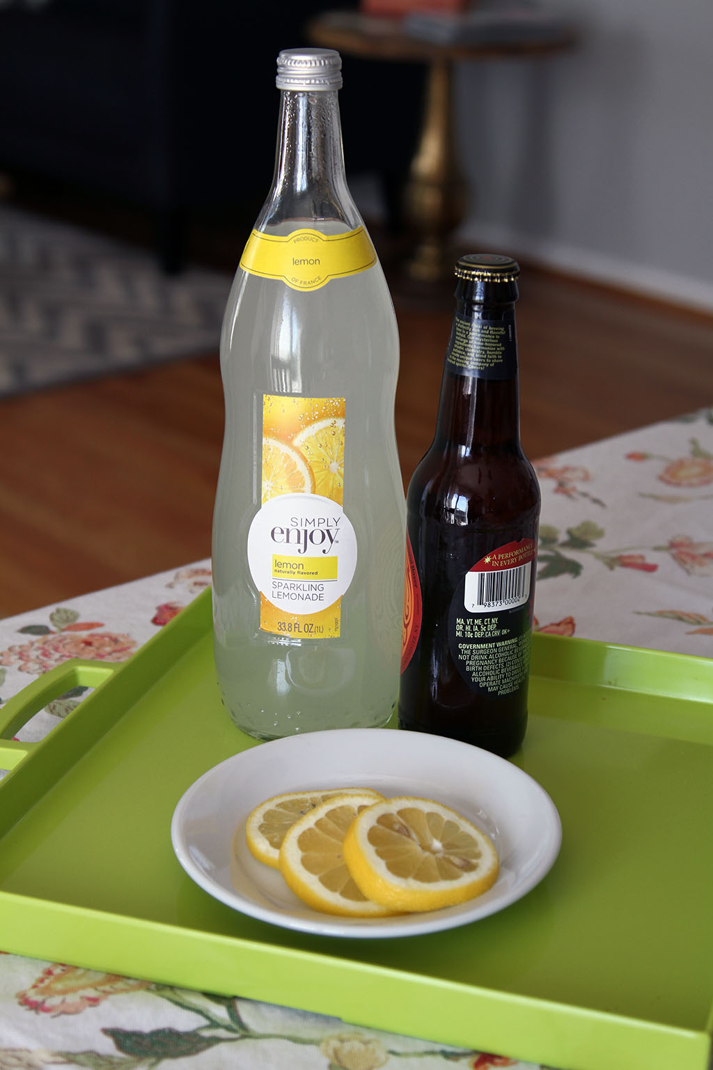 Shandy with Sparkling Lemonade Ingredients