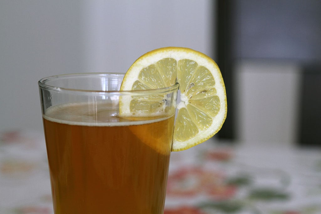 Shandy with Sparkling Lemonade