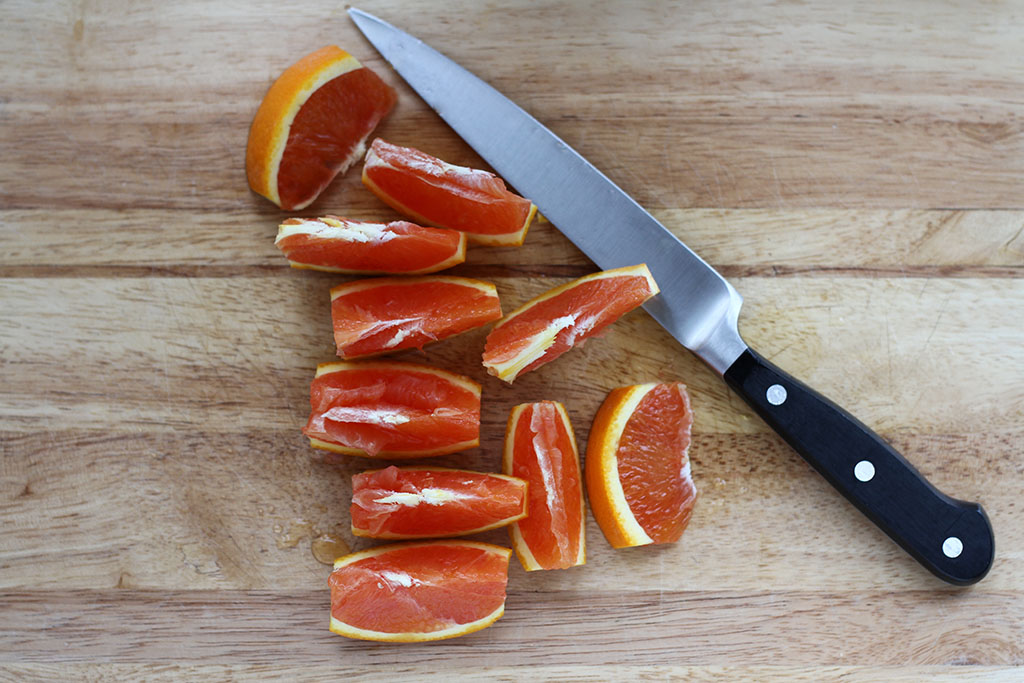 No Mess Orange Slices