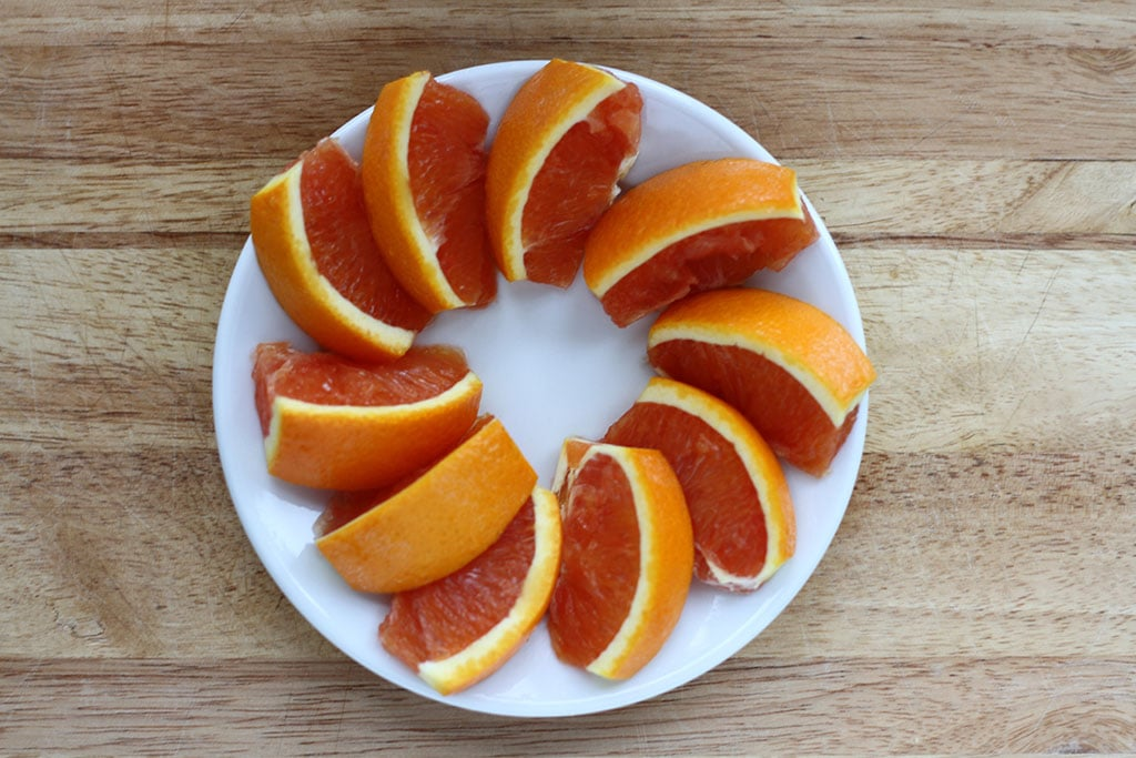 No Mess Orange Slices
