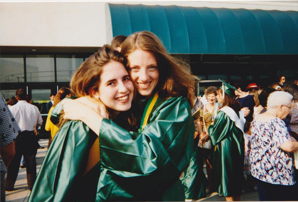 Megan and Kristin HS Grad