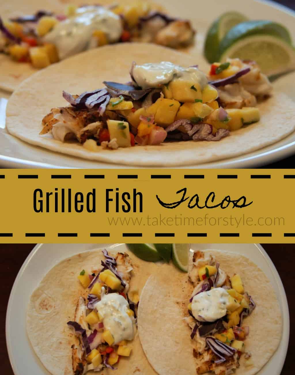grilled fish tacos with mango salso