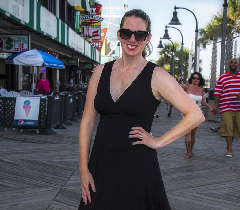 Meg on Boardwalk