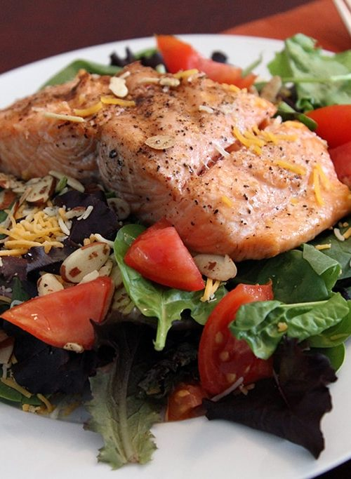 Grilled Salmon Salad, Dinner in 15!