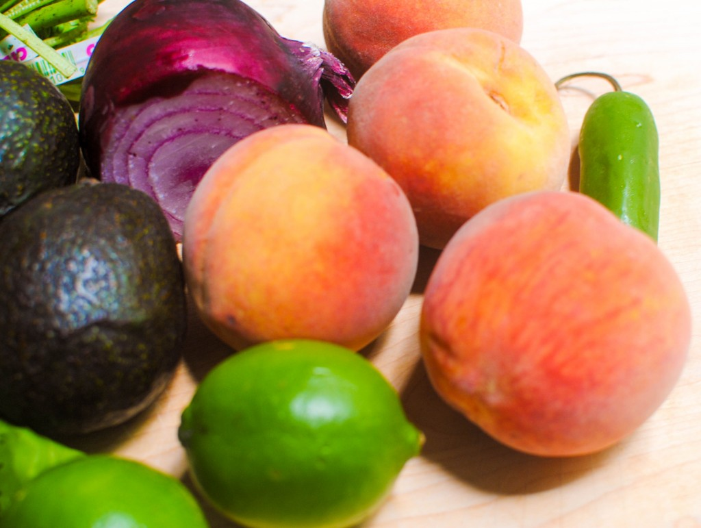 Peach Salsa Ingredients