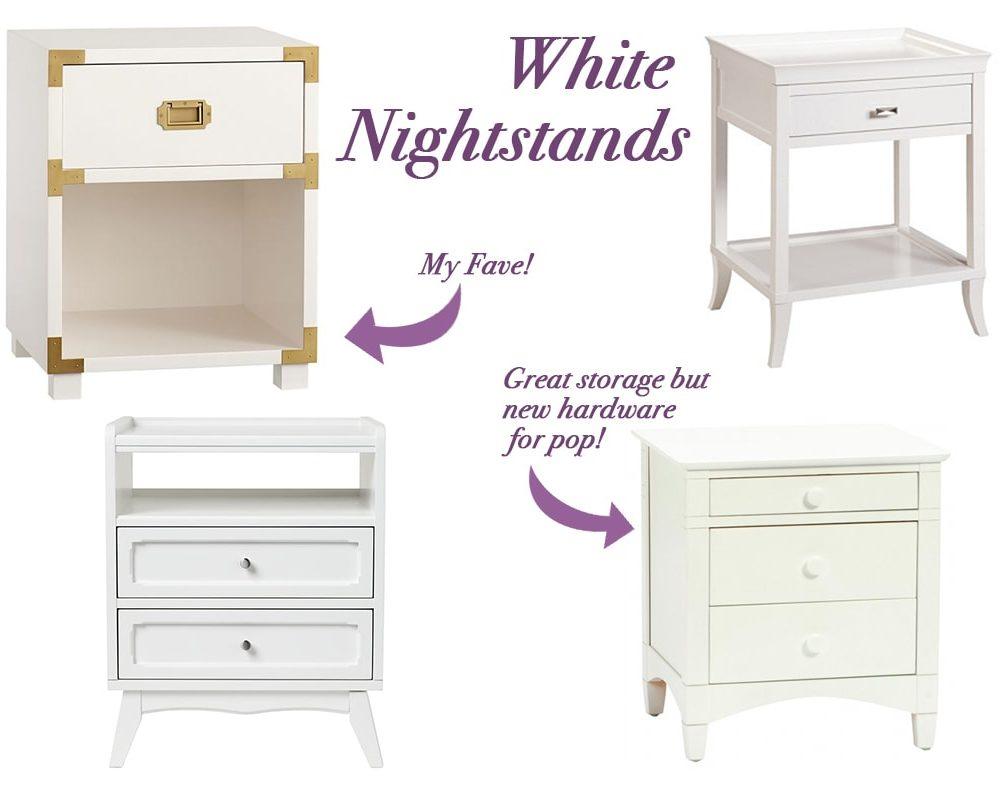 White Nightstands