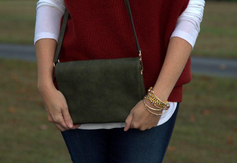 Moms Do Fall Fashion: Envelope-Side Sleeveless Sweater