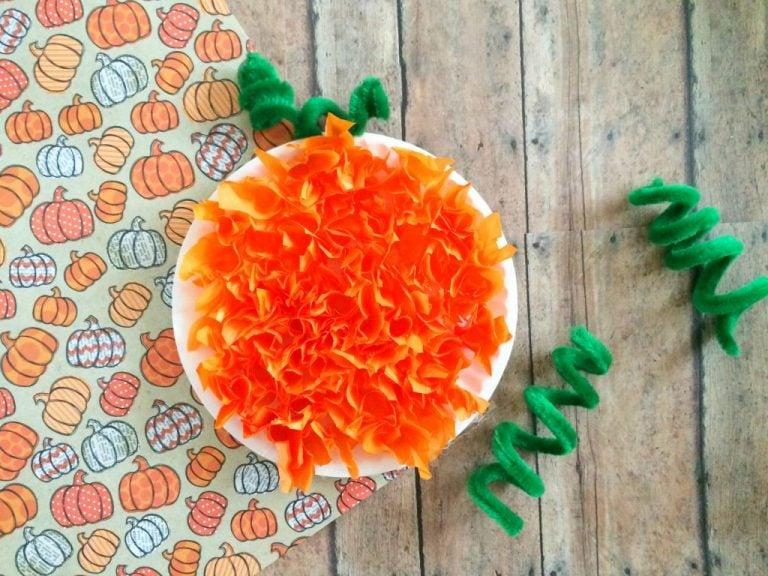 Fall Kid Craft: Pumpkin Plate