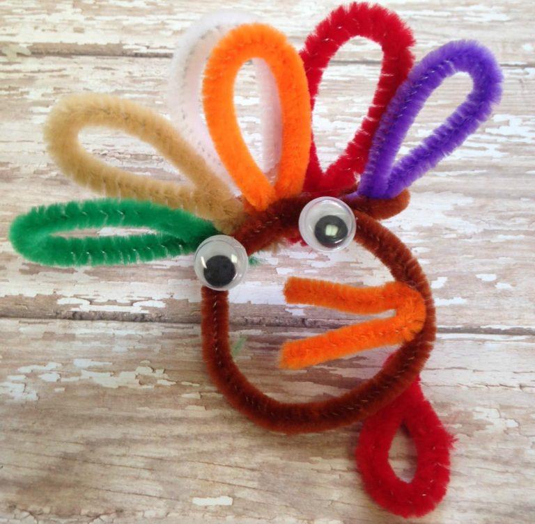 Chenille Turkey Craft for Kids