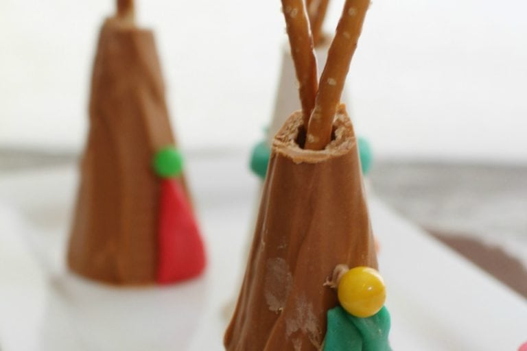 Sugar Cone Teepees Treat for Thanksgiving