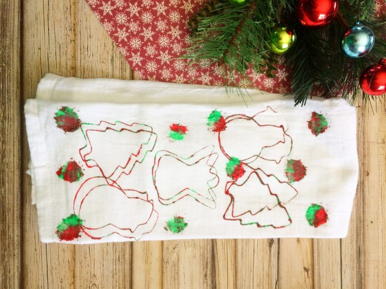 DIY Gift: Tea Towel Stamping