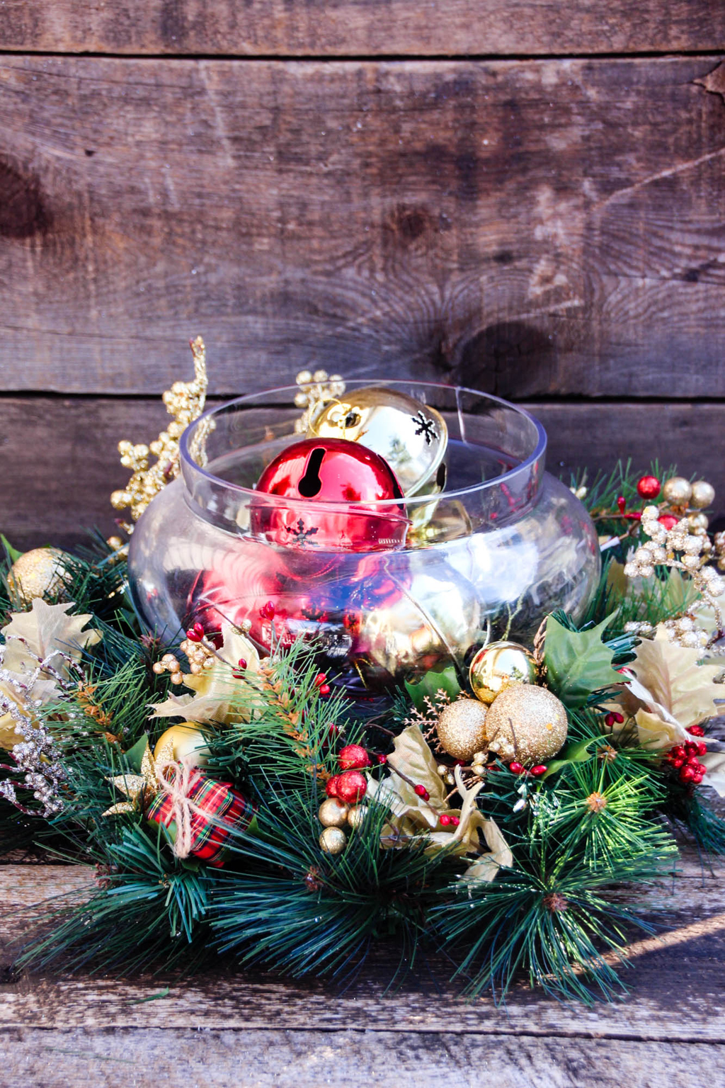 Red Gold Christmas Centerpiece Final Front