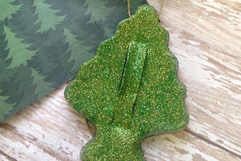Glittered Cookie Cutter Ornament