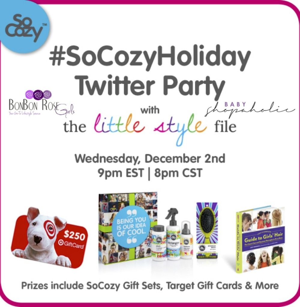 socozy holiday twitter party