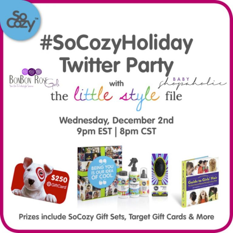 #SoCozyHoliday Twitter Party