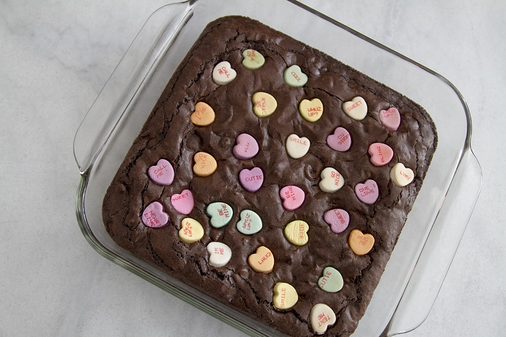 Conversation Heart Brownie Pan