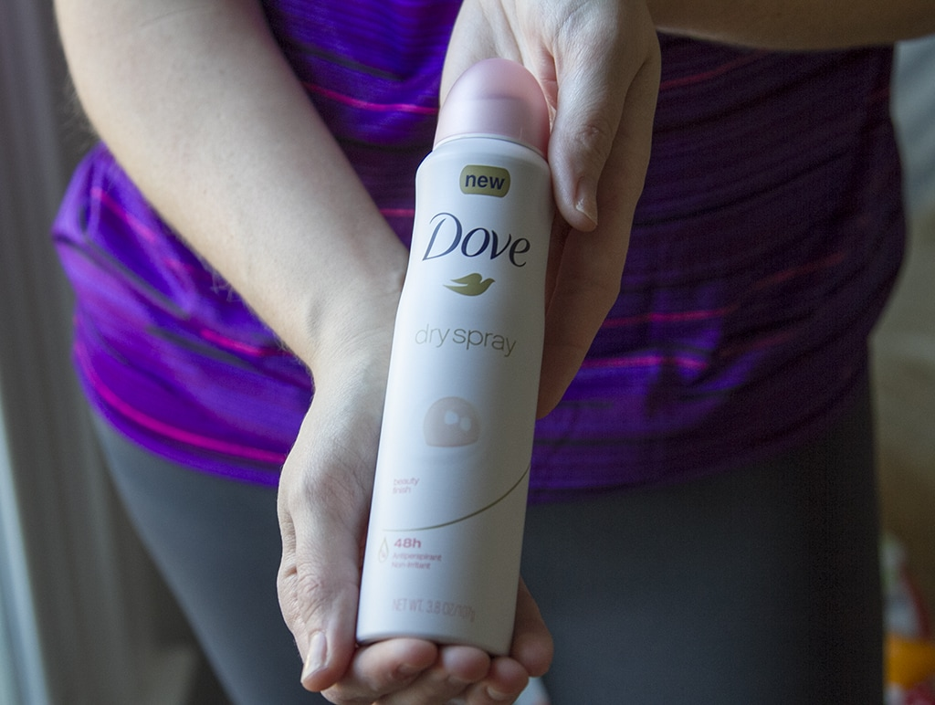 Dove Spray in Hands