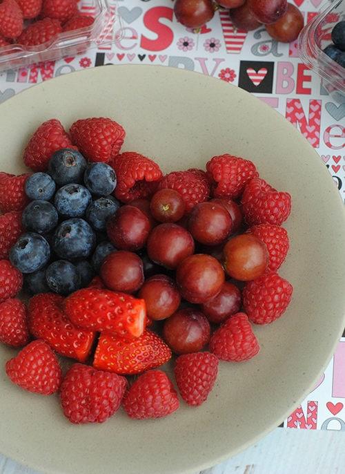 Valentine Fruit Heart Treat