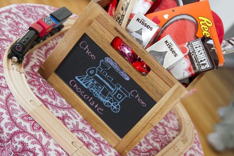 Chocolate Train Valentine's Day Basket