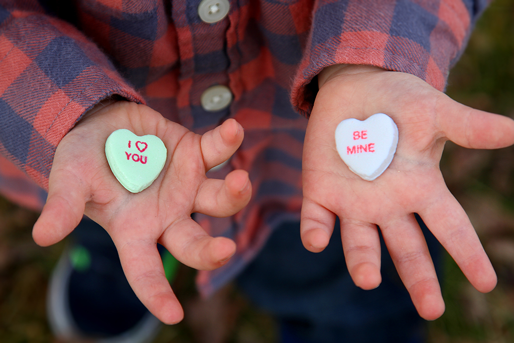 Conversation Hearts Photo