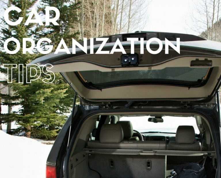 5 Tips to Help You Organize Your Car