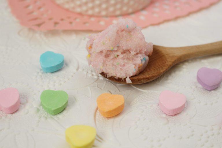 Simple and Pretty in Pink DIY Body Scrub