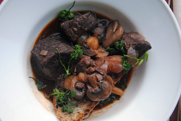 Beef Bourguignon, One Pot French Dinner
