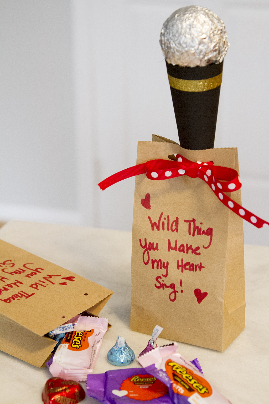Diy Microphone Valentines With Hershey S Take Time For Style