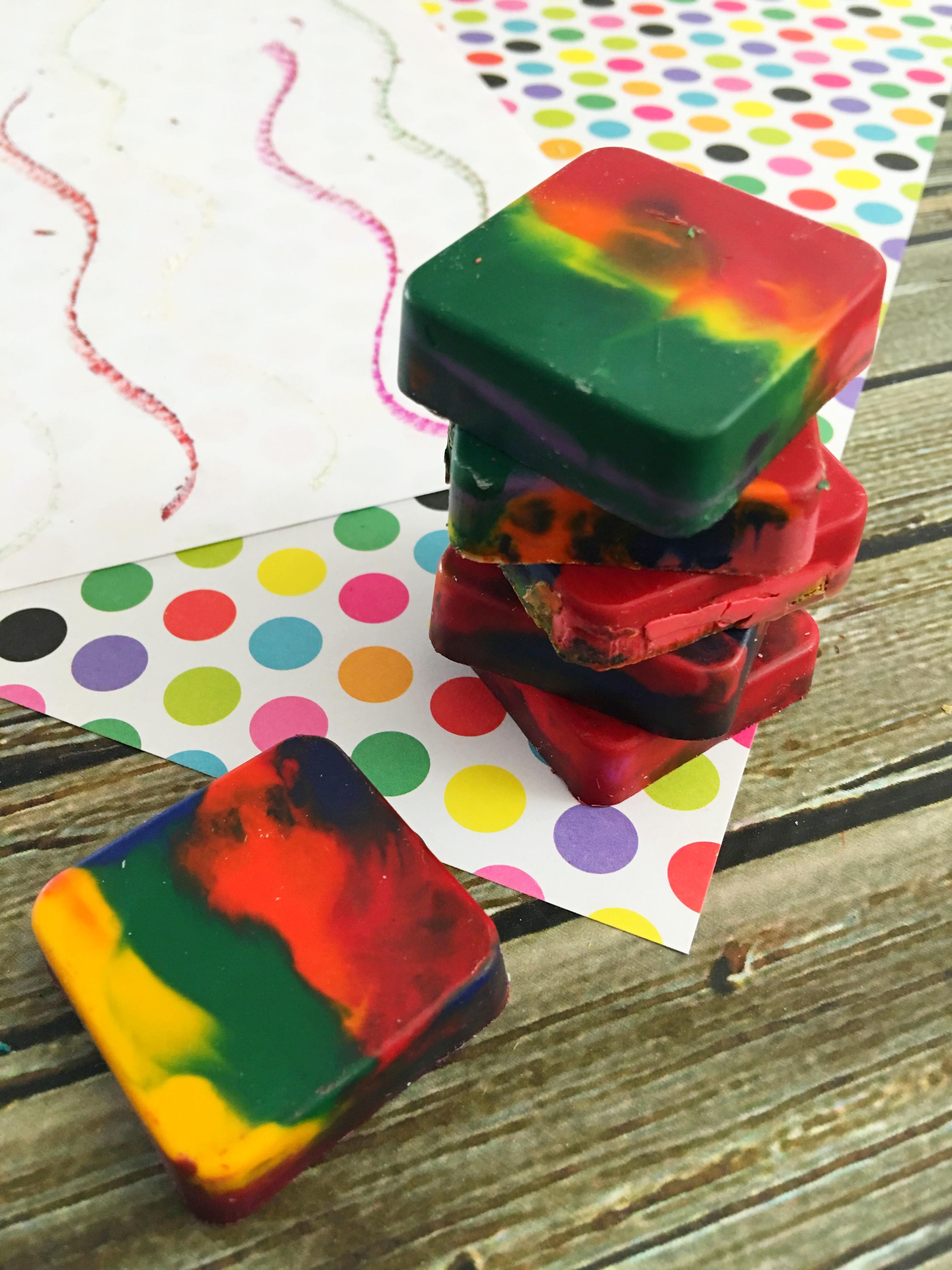 rainbow crayons