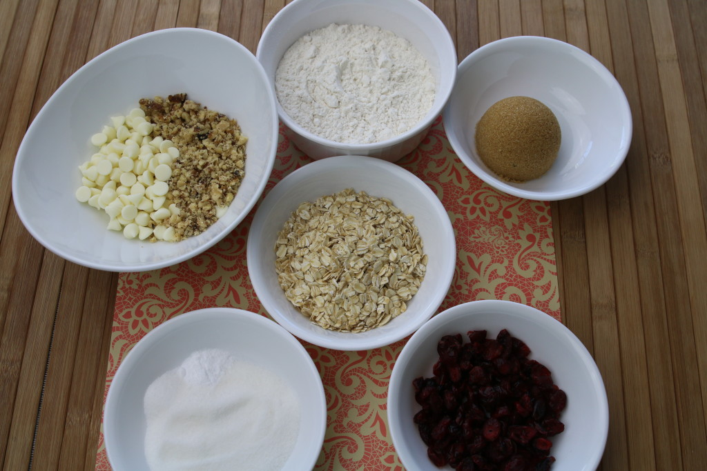 Cranberry Cookie Ingredients