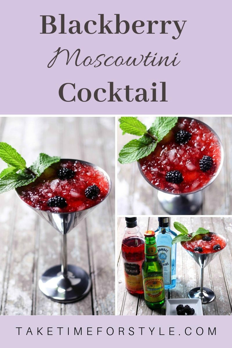 how to make a blackberry cocktail in martini glass