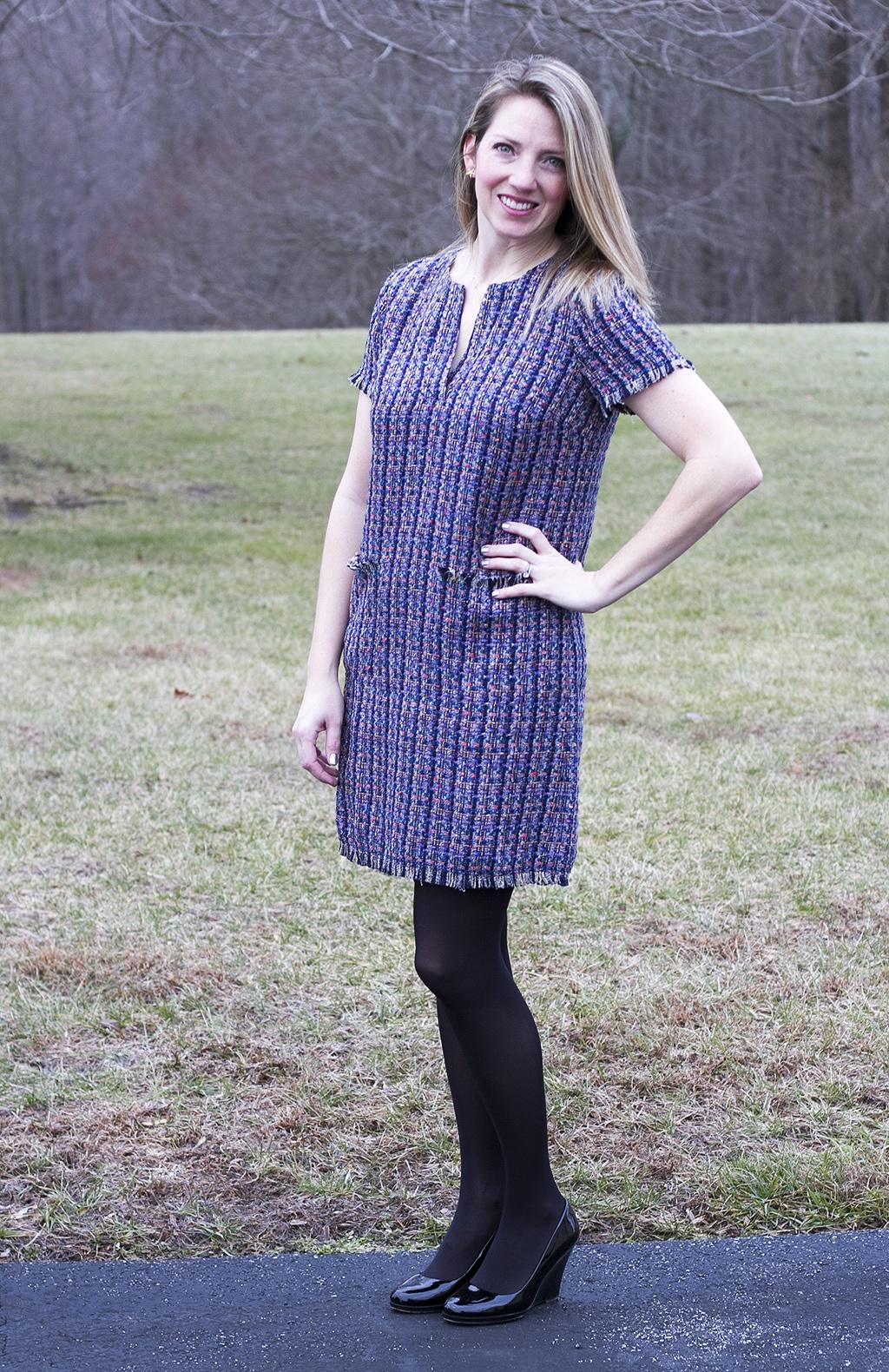 tweed spring dress
