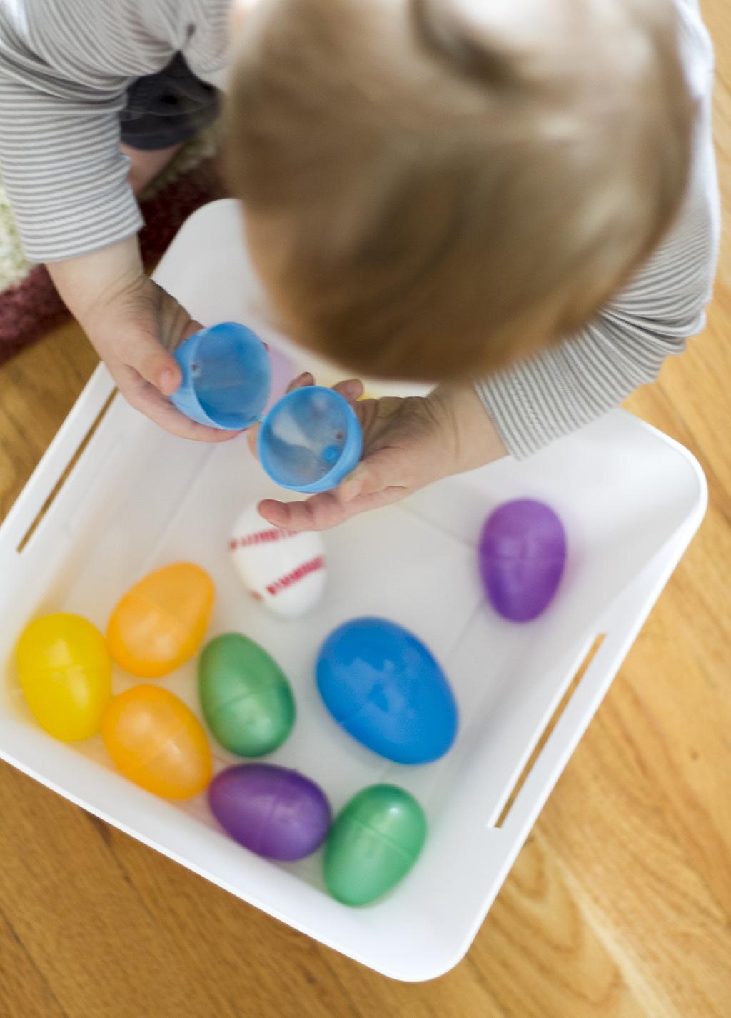 Eggs Sensory Bucket
