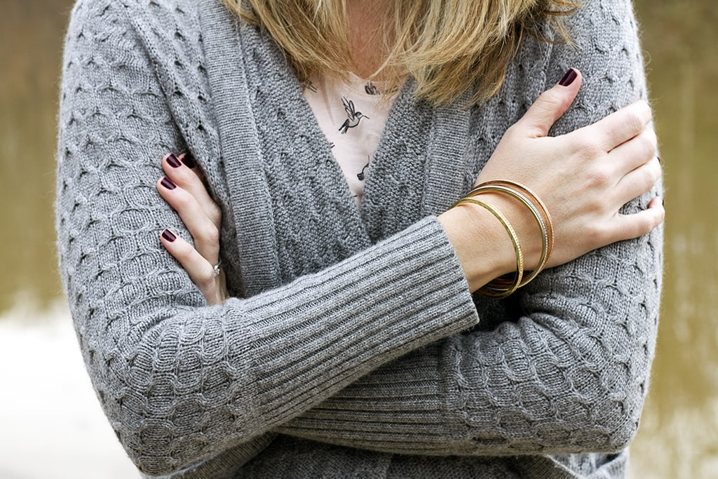 Sweater and bracelets